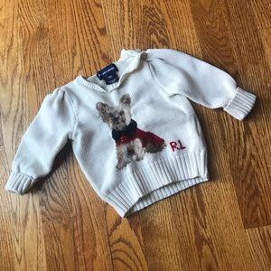 Ralph Lauren Yorkshire Terrier Baby Girl Sweater